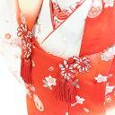 【レンタル】七五三 着物 3歳 女の子 フルセット レンタル【3-22】【白×赤/鞠】七五三 レンタル 3歳/三歳/3才/女児/753/激安/格安 3