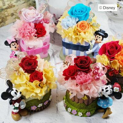 プリザーブドフラワー母の日ギフト人気プーさんミッキーミニーキャラ達からの大切な贈り物安心のディズニー正規プリザプリフラワーギフト誕生日結婚祝いギフトプレゼント退職祝い退院祝い祝い