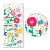 シール かわいい デコレーション ステッカー AIUEO Flower colorful (SR-90)