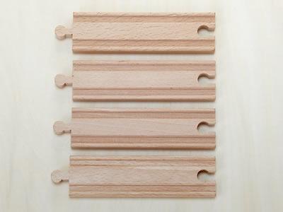 木のおもちゃストレート14.5cm(木製汽車レール)【木製レール コンビニ受取対応商品】
