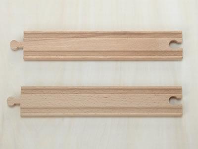 木のおもちゃストレート21.5cm(木製汽車レール)【 木製レール コンビニ受取対応商品 】