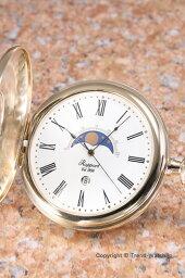 ラポート 懐中時計 RAPPORT (ポケットウォッチ) ムーンフェイズ GP/ホワイト PW80【ラポート 時計】