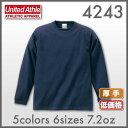 厚手の生地!【39%OFF】:United Athle(ユナイテッドアスレ):ロングスリーブTシャツ7.2oz:XS~XL