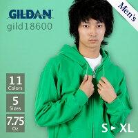 GILDAN(ギルダン):HeavyBlendアダルトフルファスナーフード付トレーナー:S〜2XL