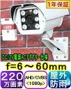 【SA-50961】220万画素 耐寒仕様 屋外用ヒータ−+ファン内蔵防犯カメラ AHD&CVBS(アナログ)信号切替出力(2in1) f=6〜60mm 1