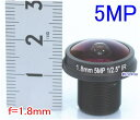 【SA-51143】防犯カメラ・監視カメラ ボードレンズ f=1.8mm(F=2.0) レンズネジ径12mm