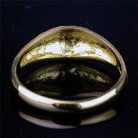 純金(24金)を使用した甲丸松竹梅リングです