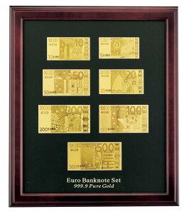 純金箔 999.9純金箔ユーロ紙幣セット