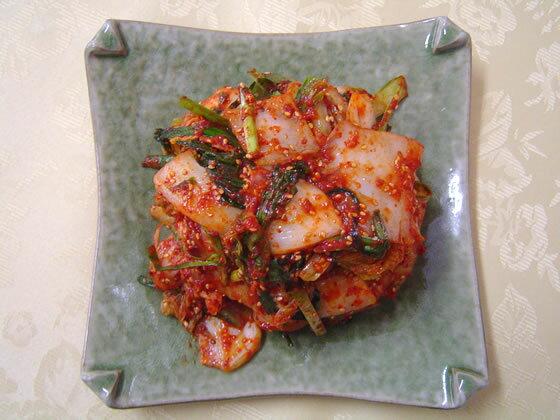 【送料無料】韓国キムチ1000g 韓国出身のおばちゃんの手作りの味です☆