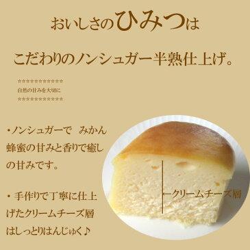 【送料無料】ノンシュガー 濃厚はんじゅくチーズケーキ みかん蜂蜜入り 6個