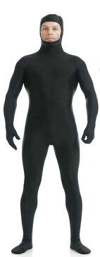 本格 ハロウィン 衣装 コスプレ 仮装 コスチューム 男 男性 女 女性 メンズ レディース うける 面白い かっこいい お手軽 全身タイツ モジモジくん 人気者 なりきり 大人 XL 170cm 185cm 大きいサイズ ブラック
