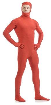 本格 ハロウィン 衣装 コスプレ 仮装 コスチューム 男 男性 女 女性 メンズ レディース うける 面白い かっこいい お手軽 全身タイツ モジモジくん 人気者 なりきり 大人 2XL 180cm 195cm 大きいサイズ レッド