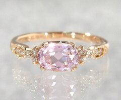 """""""愛すべき優美な人…"""" K18 クンツァイト ダイヤモンド リング 『amanza』"""