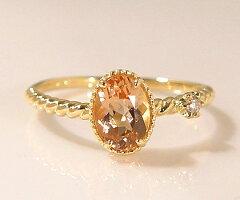 """《指輪・リング》""""煌めきを2つ手にして…""""K18 インペリアルトパーズ ダイヤモンド リング 『spa..."""