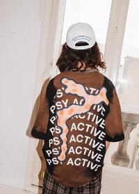P.A.M./PERKSANDMINI(パム/パークスアンドミニ)DISCMANTIEDYETEE(RUSTDYE)[Tシャツカットソートップスブランドプリントグラフィックロゴストリートスポーツスケートメンズユニセックス半袖PAMUNISEX][タイダイ]