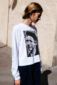 P.A.M./PERKSANDMINI(パム/パークスアンドミニ)IDEASAREREALLSTEE(WHITE)[ロングスリーブ/Tシャツ/カットソー/トップス/グラフィック/PAM/UNISEX][ホワイト]