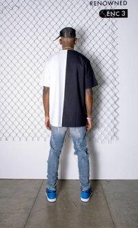 RENOWNEDLA(リナウンド)TRAPHORSESPLITTEE(BLACK/WHITE)[Tシャツ/カットソー/UNISEX][ブラック/ホワイト]