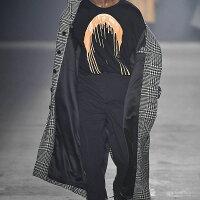 ROCHAMBEAU(ロシャンボー)PAINTDRIPLONGSLEEVETEE(BLACK)[ロングスリーブ/Tシャツ/カットソー/ロゴ/UNISEX][ブラック]