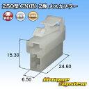 矢崎総業 250型 CN(B) 2極 メスカプラー