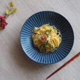 パスタ皿 カレー皿 深皿 KONOMI22.5cmディーププレート 青 お皿 食器 おしゃれ 和風 青いお皿 ブルー 梅の花 十草 おうち時間