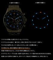 進化した空の王者の腕時計。スイス製のトリチウムを搭載したパイロットクロノグラフ[LADWEATHERラドウェザーミリタリーウォッチ]クロノグラフ腕時計回転計算尺100m防水アウトドアサバイバル男性用watchデイト日付カレンダー野外夜間