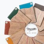 VARCO REAL WOOD パスホルダー 定期入れ パスケース ic カードホルダー スイカ入れ 革 ヌメ革 本革 革製 レザー 木製 天然木 日本製 かわいい 可愛い オシャレ icカード 2枚 メンズ レディース