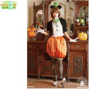【レディ】パンプキンミッキー【ミッキーマウス】【ミッキー】【ディズニー】【Disney】【ハロウィン】【コスプレ】【コスチューム】【衣装】【仮装】【集団仮装】【かわいい】