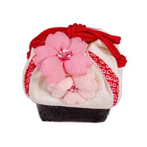 ぷっくりとした桜が可愛い!七五三・袴に♪「さくらきんちゃく(白)」【10P22Nov13】