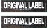 【Julius-K9】ユリウスケーナイン IDCパワーハーネス用アクセサリ Original Velcro Label オリジナルベルクロラベル 【2枚1組】 マジックテープ【サイズS】<ベースカラー:ブラック> [ネコポスまたはゆうパケット発送]