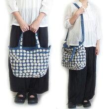 刺し子刺繍2ウェイバッグ09ショルダーバッグトートバッグ手織り布藍染め