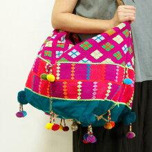カレン族ショルダーバッグカレン族手刺繍民族衣装古布
