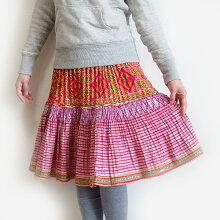 モン族スカートミディアム丈モン族刺繍クロスステッチ