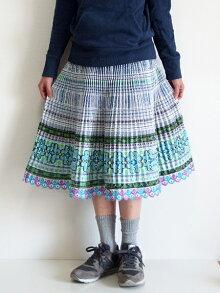 モン族スカートミディアムスカートミディアム丈モン族手刺繍クロスステッチミャオ族