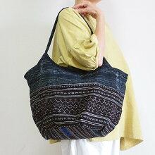 モン族手刺繍グラニーバッグ13大きめアジアンエスニックバッグテ刺しゅう藍染トートバッグショルダーバッグ