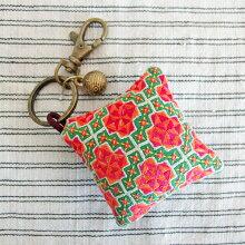 モン族手刺繍チャームキーホルダーバッグチャーム