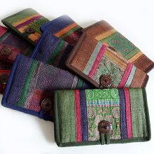 【メール便】モン族刺繍長財布ウォレット