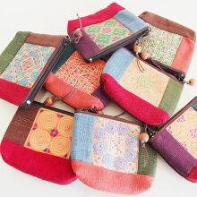モン族手刺繍ポーチ財布小銭入れミャオ族