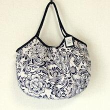 sisiグラニーバッグ120%ビッグサイズリネンコットン花柄sisiバッグA4サイズが入る布バッグショルダーバッグ