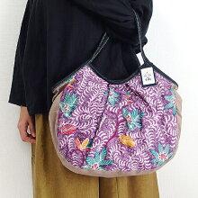 【メール便】sisiグラニーバッグ120%ビッグサイズバティックマドゥラAsisバッグろうけつ染め布バッグショルダーバッグ