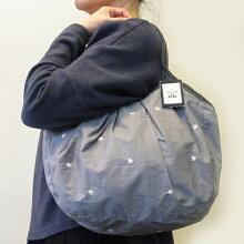 sisiグラニーバッグ定番サイズ刺繍グレイ(マット)sisiバッグ布バッグ
