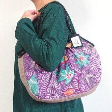 【メール便】sisiグラニーバッグ定番サイズバティックマドゥラAろうけつ染めsisiバッグ布バッグショルダーバッグ