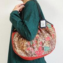 【メール便】sisiグラニーバッグ定番サイズバティックマドゥラCろうけつ染めsisiバッグ布バッグショルダーバッグ