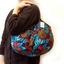 【メール便可】sisiグラニーバッグ定番サイズボタニカルブルーsisiバッグ布バッグショルダーバッグ