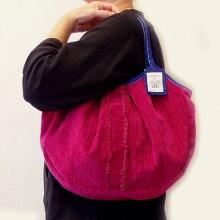 【メール便可】sisiグラニーバッグ定番サイズソファーフリンジレッドsisiバッグ布バッグショルダーバッグ
