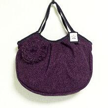 sisiグラニーバッグ定番サイズコサージュバッグパープルsisiバッグ布バッグショルダーバッグ