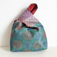 シルクカンタ刺繍トートバッグインドの刺し子布ラリーキルトカンタ刺繍