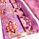 アクリルマイヤー毛布140×200cmラベンダー