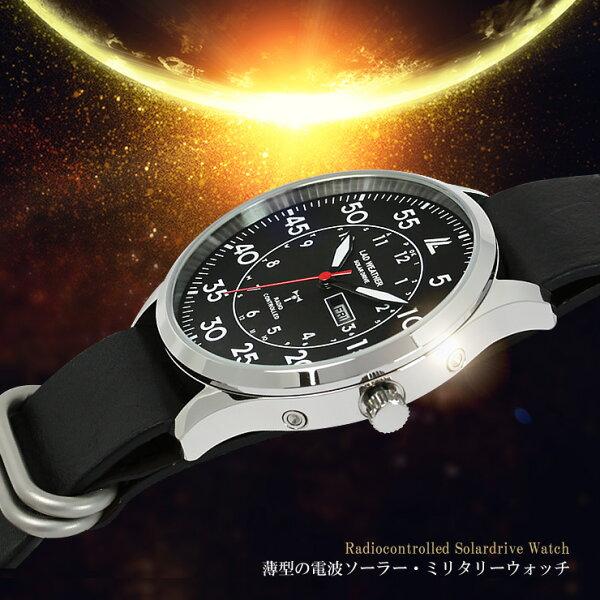 レディオマスター2電波ソーラー腕時計ブランドソーラー電波時計メンズ電波ソーラー電波受信ソーラー充電メンズ/男性用デイデイトカレン