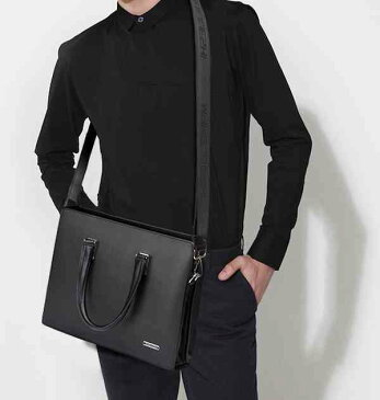 【スーパーSALE対象商品】 ビジネスバッグ メンズ レザー 革 ブリーフケース 斜めがけ ショルダー A4 軽量 通勤 斜め掛け 黒 バック カバン 鞄 かばん bag bag-969 【予約商品】