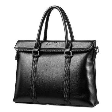 【スーパーSALE対象商品】 ビジネスバッグ 斜めがけ ショルダー A4 レザー 革 メンズ ブリーフケース 軽量 通勤 斜め掛け 黒 バック カバン 鞄 かばん bag bag-974 【予約商品】